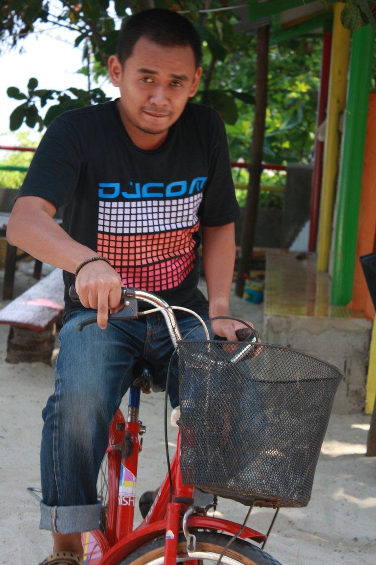 biking along the island