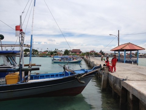 Tempat Transit di Pulau Harapan