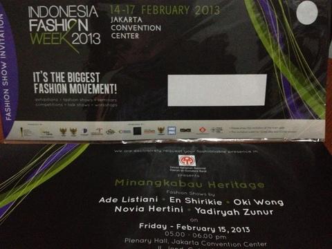 Undangan IFW 2013 : Minangkabau Heritage