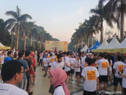 Tampak keramaian peserta Mini Marathon sebelum pertandingan