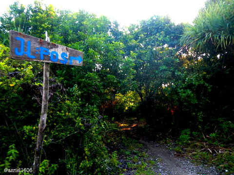 This Blue Board is sign or marking where you could check it one is on the right track while trekking.