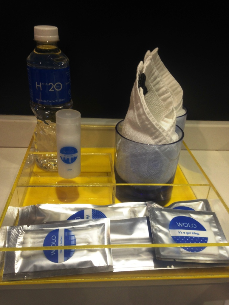 The amenities that come with the room