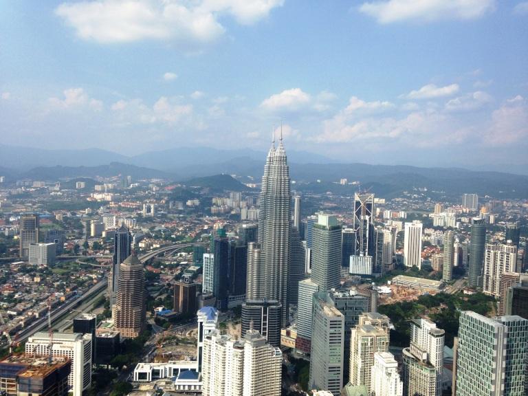 Kota Kuala Lumpur dari atas KL Tower