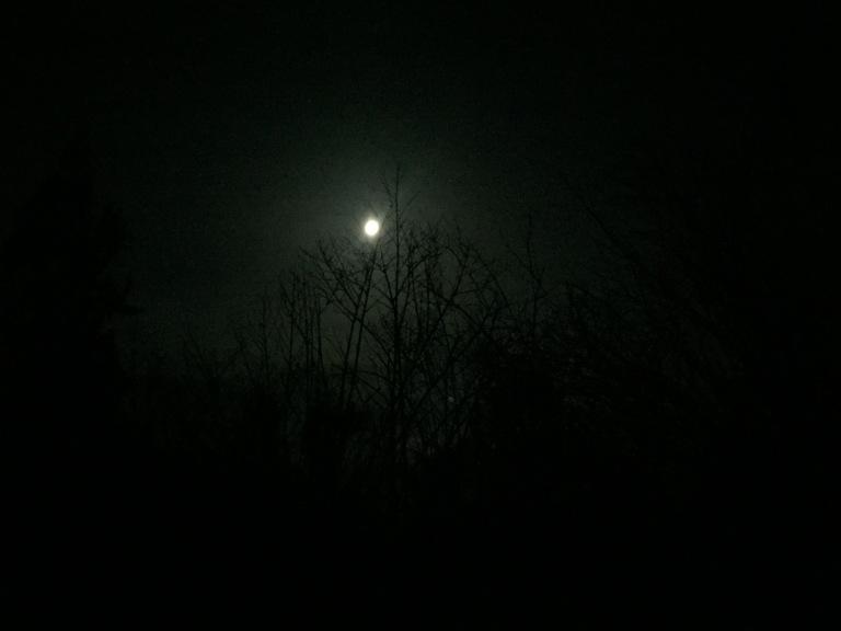 Cahaya bulan memandu arah pendakian